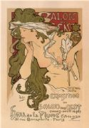 Vintage French poster - 20th Exhibition of the Salon de Cent (1896)